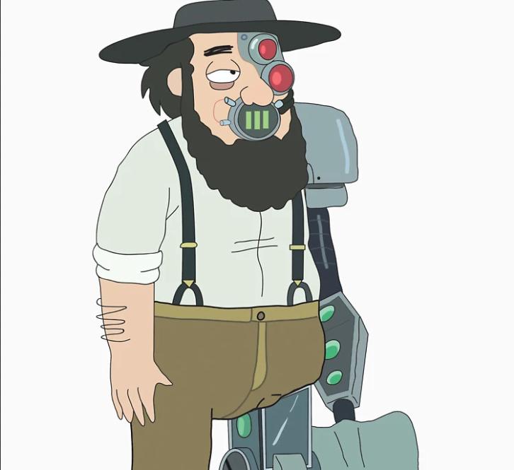 amish cyborg rick and morty